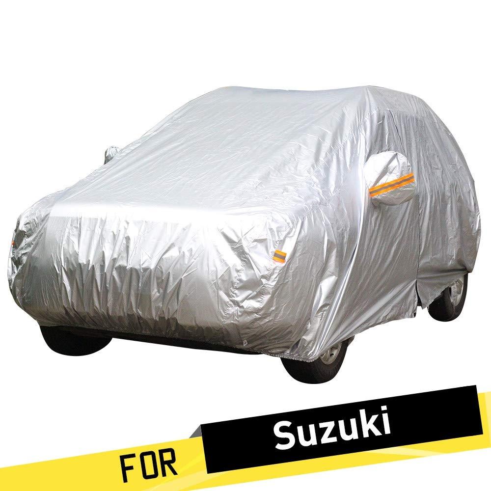 ERQINGCZ Wasserdichte Autoabdeckung Voller Auto-Abdeckungs-Selbstanti Uv Sun Regen-Schnee-Beständige Abdeckung Für Suzuki