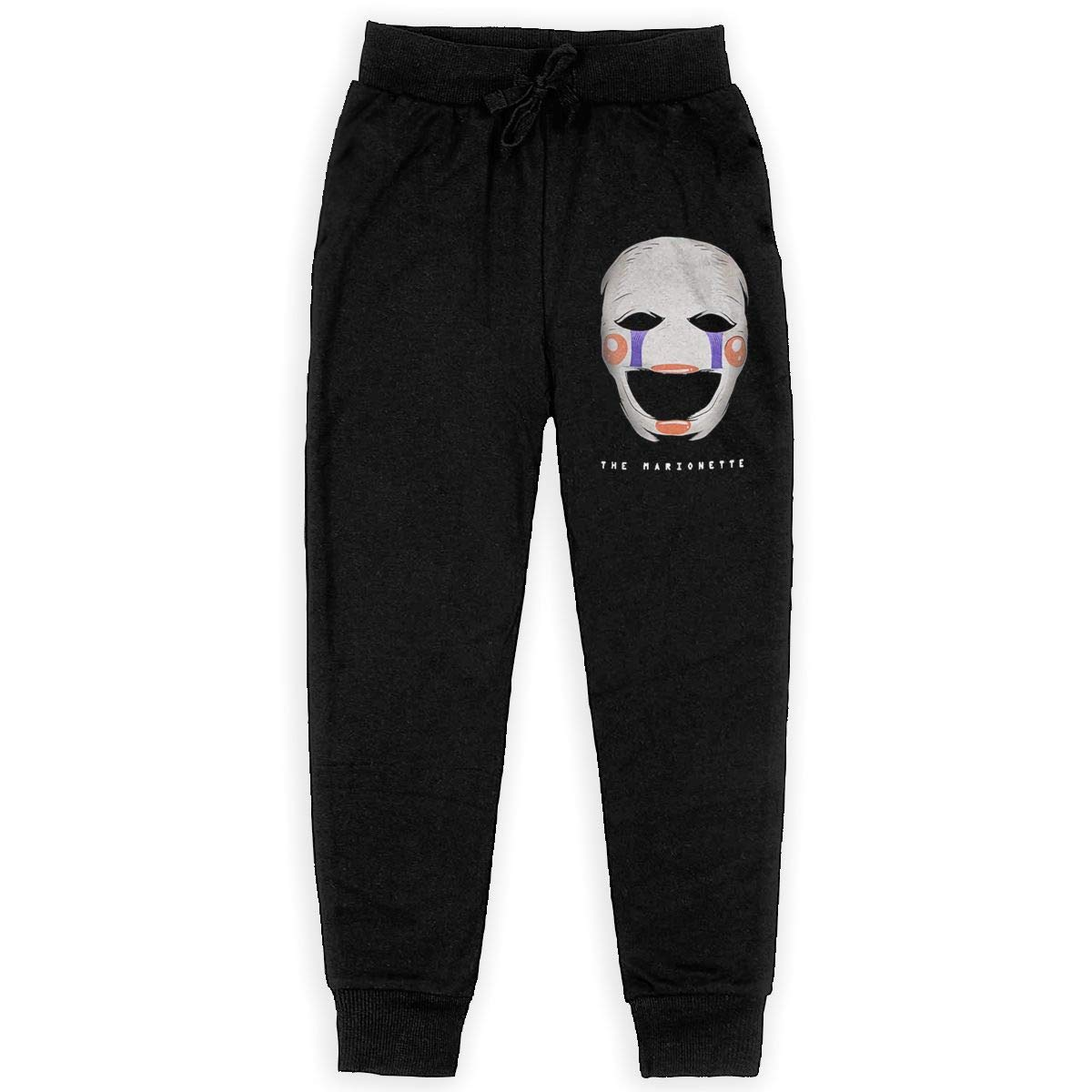 Five Nights at Freddys Marionette Big Boys Girls Casual Jogger Soft Training Pants Elastic Waist
