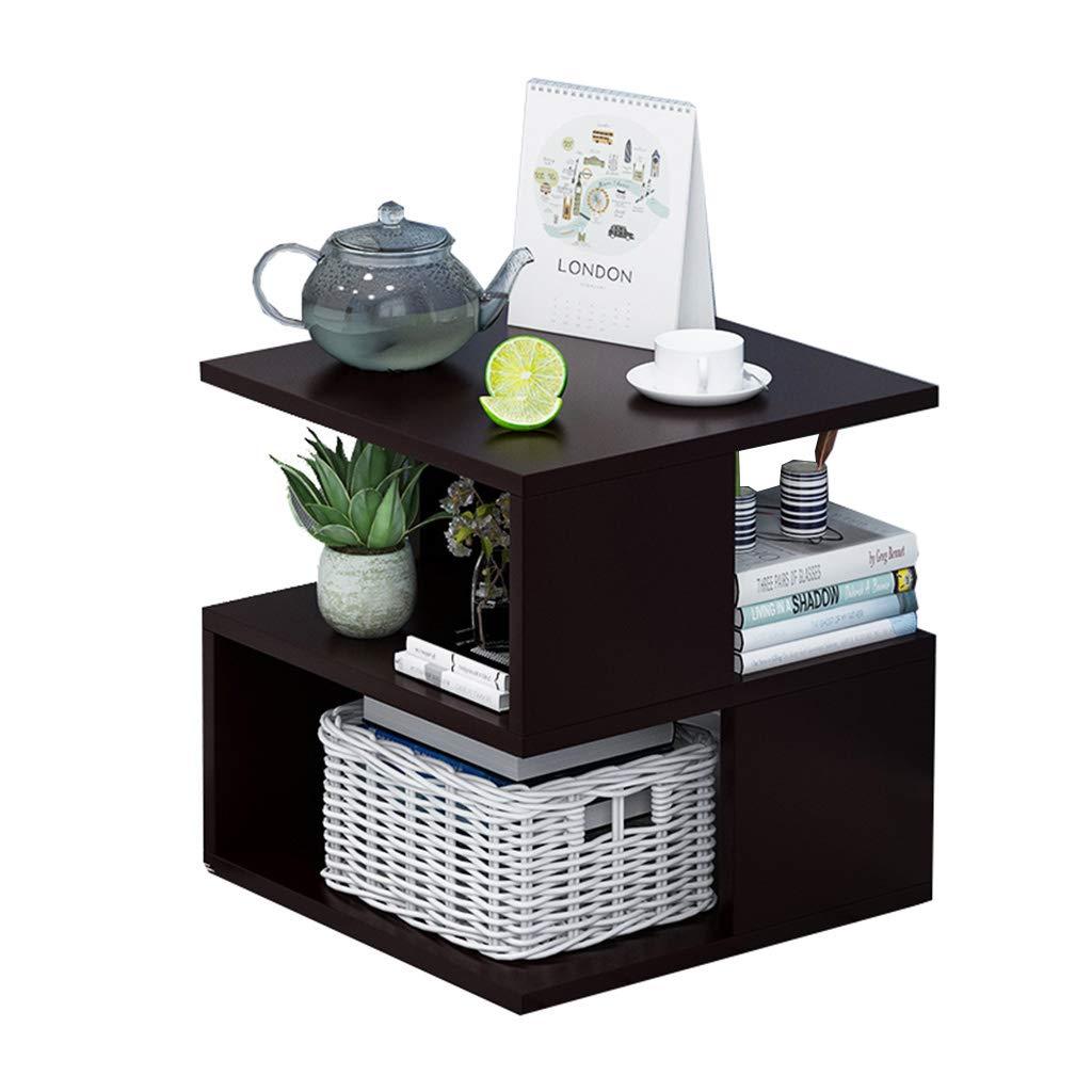 Black walnut Simple Bedside Cabinet Locker Bedroom Small Bedside Cabinet Storage Cabinet 40  40  40cm Wood-Based Panel