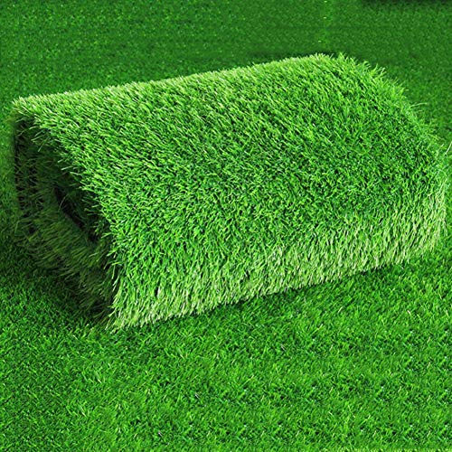 High Density Thicken Artificial Grass,Artificial Lawn Outdoor Fake Grass Pet Turf with Drainage Holes for Patio Balcony 2cm Height Grass Rug-a 100x1600cm(39x630inch) ()