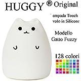 Huggy Led Multicolore Ricaricabile Cromoterapia Luce Notte Bambini Gatto Fuzzy