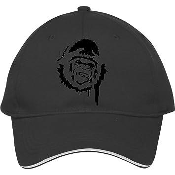 New Fashion Gorilla Baseball Cap Snapback Hats Adjustable Hatblack Cotton  Male female Monabailey 7ca23a54859b
