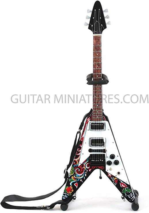 Jimi Hendrix Flying V Guitarra en miniatura (gmz24): Amazon.es ...