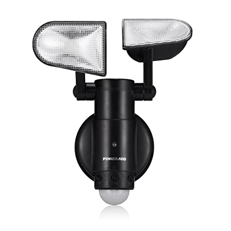 Poweradd Lámpara LED Sensor de Movimiento con 2 Luces Adjustables (8 LEDs) para Exterior