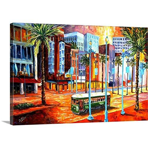 New Orleans Canal Street - New Orleans' Canal Street Canvas Wall Art Print, 18