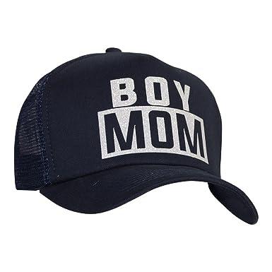 High Key Women s Glitter  quot BOY MOM quot  Mesh Trucker Hat (Black ... 1d8b55c7f0d8