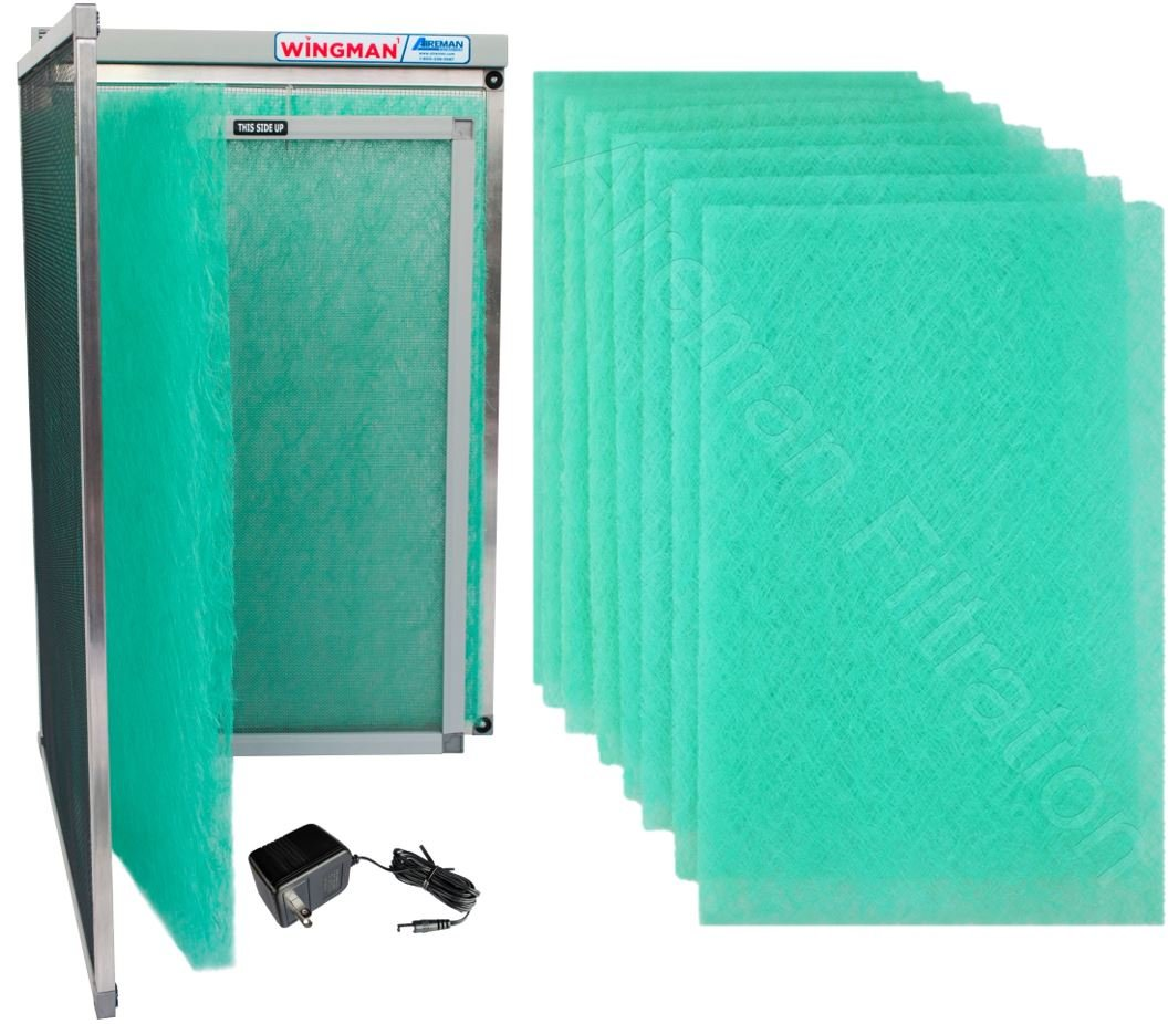 16x24x1 Electronic Air Filter Including Year Supply of Replacement Pads - Homeowner Installed- Simply Replace Your Current AC Furnace Air Filter and PLUG IT IN!