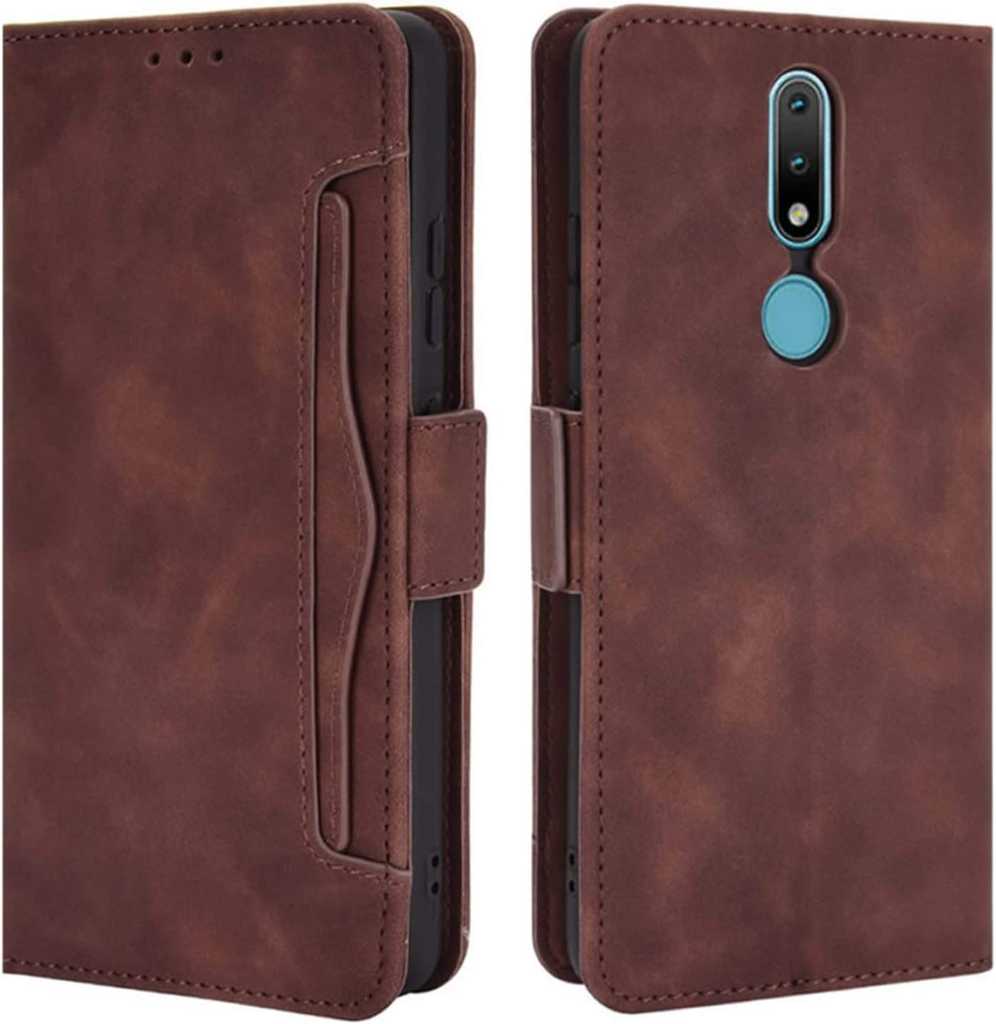 Blue and Kickstand Magnetic Closure Full Protection Book Design Wallet Flip Cover for Nokia 2.4 with Card Slots KERUN Case for Nokia 2.4 Filp Case