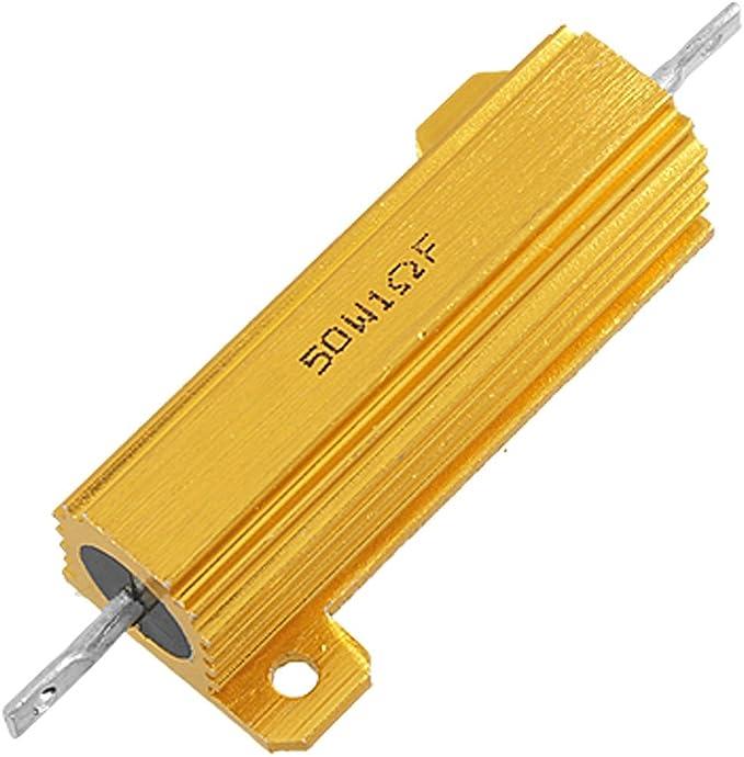 Ceramic Tubular Adjustable Wire Wound Rheostat Resistor uxcell 50W Watt 10R Ohm High Power Wirewound Resistor