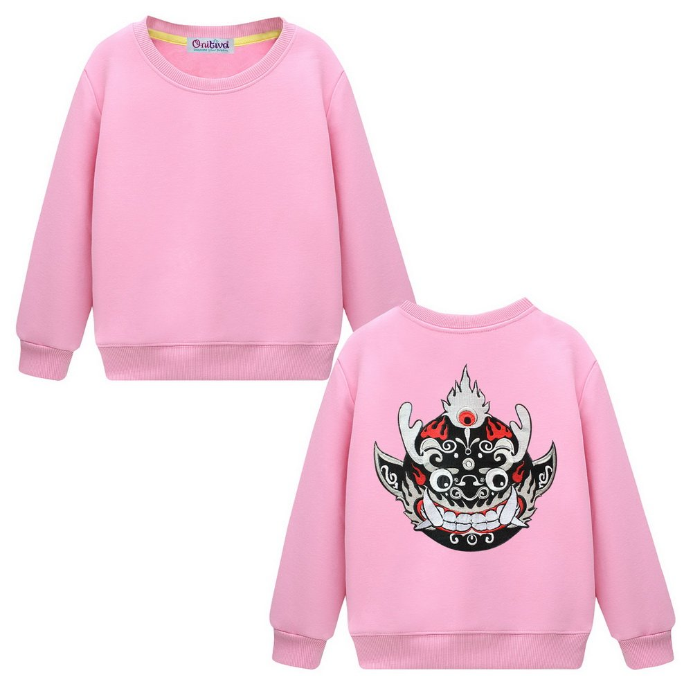 Black Temptation Kids Crew Neck Pullover Sweatshirt for Boys Or Girls