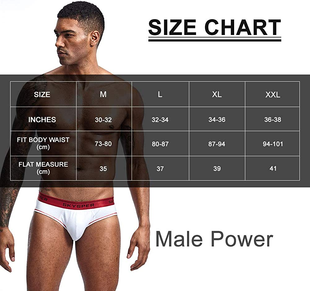 SKYSPER Mens Jockstrap Athletic Supporter Underwear Gym Strap Brief