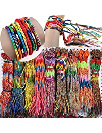 Susenstone®50Pcs Wholesale Jewelry Lot Braid Strands Friendship Cords Handmade Bracelets