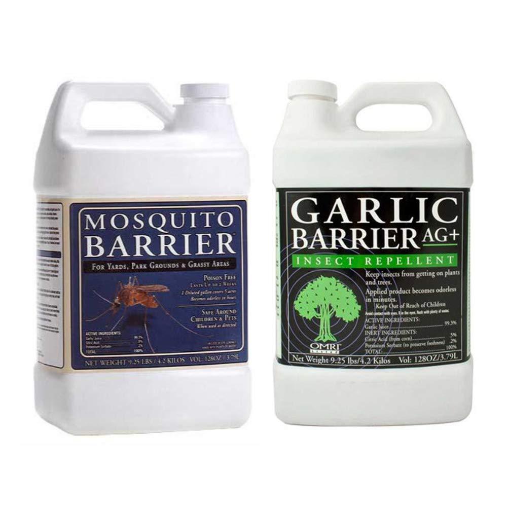 Mosquito Barrier MBGALLON Liquid Mosquito Repellent (1 Gallon) w/ Mosquito Barrier GBGALLON Liquid Spray (1 Gallon) by Mosquito Barrier
