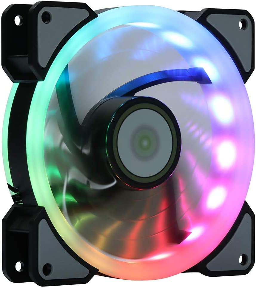 1Pcs LED Ultra Silent Computer PC Case Cooling Fan 120mm Hydraulic Bearing