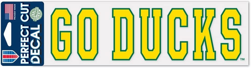 3 x 10 WinCraft NCAA University of Oregon WCR49977014 Perfect Cut Decals