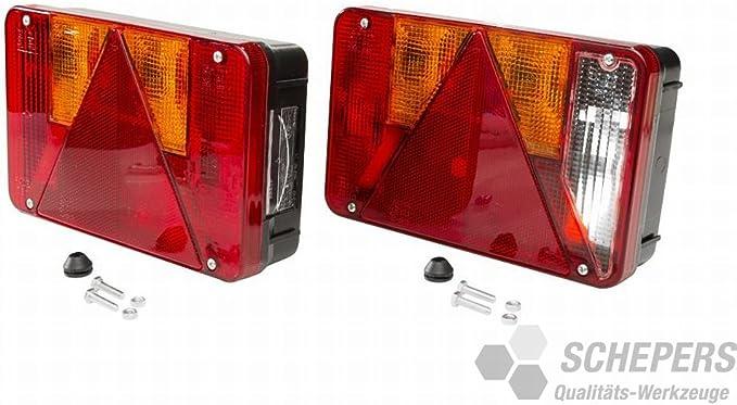 Radex 5800 Rückleuchtensatz Anhänger 220 X 140 Auto