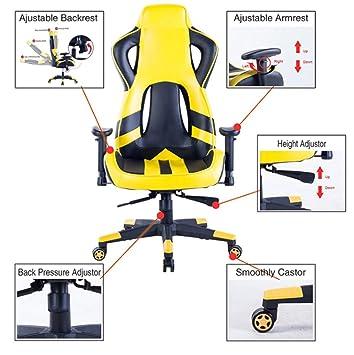 Polironeshop - Jerez, silla para Gaming Racing, posición direccional, mobiliario para el escritorio