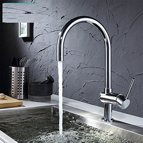 Modern simple copper hot and cold kitchen sink taps kitchen faucet Faucet kitchen faucet kitchen redating swing faucet Suitable for all bathroom kitchen sinks
