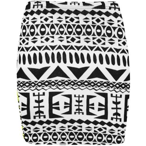 femmes Big impression Jupe Aztec Pour en mini lastique jersey droite bodycon q1FwP8