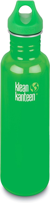 Klean Kanteen 27 oz Stainless Steel Water Bottle (Loop Cap 3.0 in Bright Green)