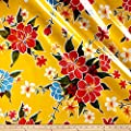 Oilcloth Hibiscus Yellow Fabric By The Yard from Oilcloth International
