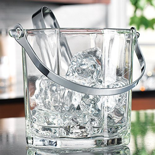 Home Essentials & Beyond 8966 30 oz. Tablesetter Paneled Ice Bucket with Tongs