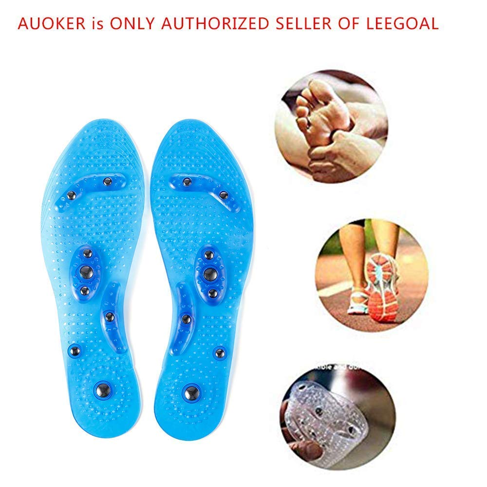 Mespirit MindInSole for Feet Acupressure Magnetic Inserts for Men and Women Massage Foot Therapy Reflexology Pain Relief Helps Burn Fat Cutable Fits Washable(Blue) by Mespirit (Image #3)