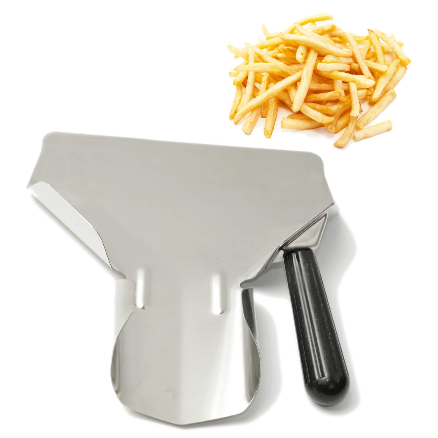 Stainless Steel French Fry//Popcorn Scoop Double Handle Free Shipping USA Only