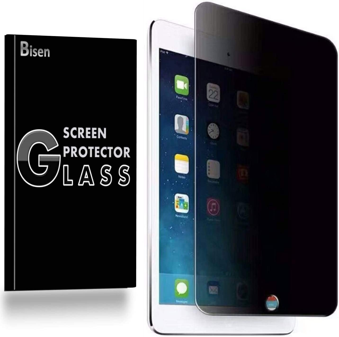 [BISEN] Fit for iPad 9.7 (6th / 5th Generation, 2018/2017), iPad Pro 9.7, iPad Air 2, Air 1 Privacy Screen Protector Tempered Glass, Anti-Spy Screen