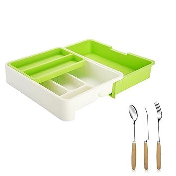 Z-Life - Organizador de cajón para cocina (ajustable, bandeja de
