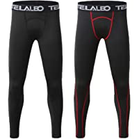 c0766d23e78b TELALEO Boys  Youth Compression Base Layer Pants Tight Running Leggings  Trousers