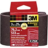 3M 9264NA Heavy Duty Power Sanding Belts - Fine, 120g, 3-Inch by 21-Inch 2-pack