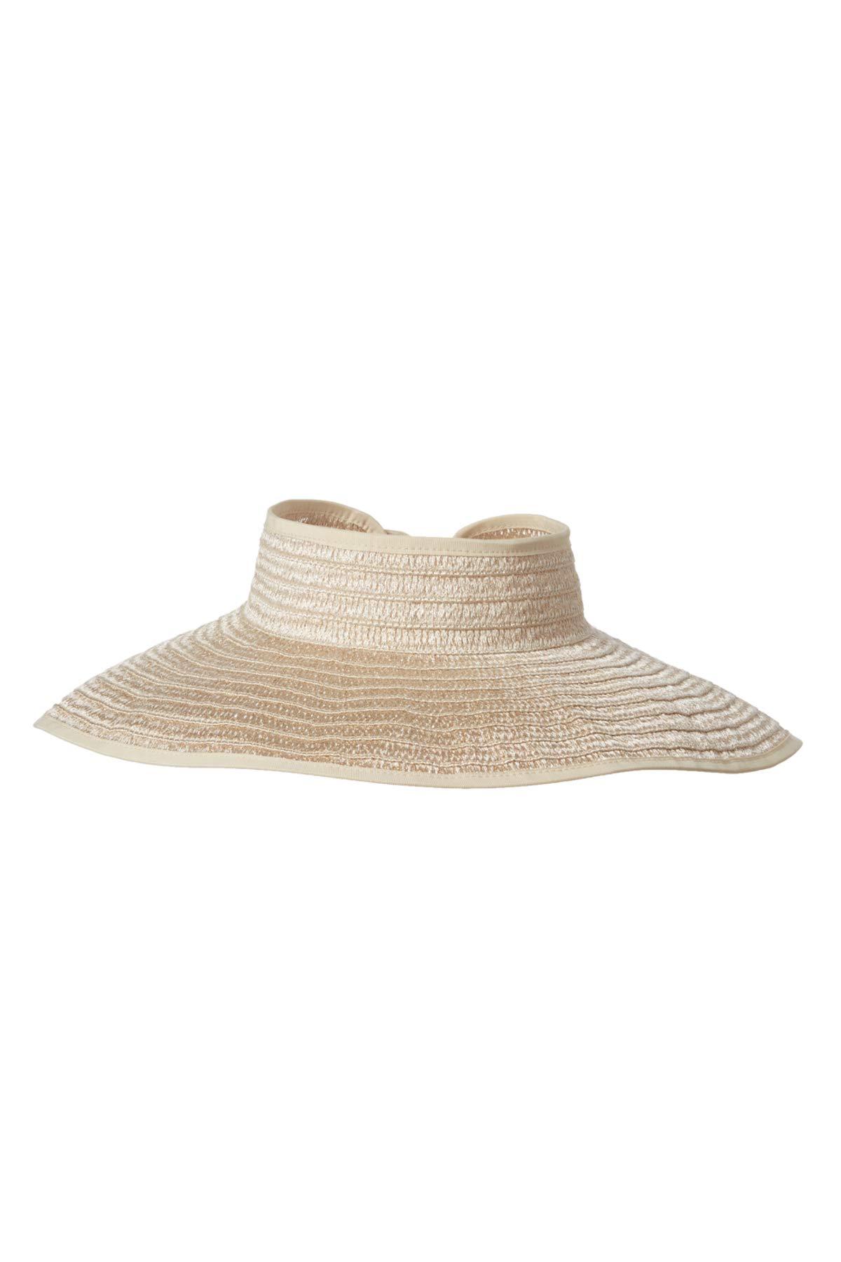 San Diego Hat Metallic Paper Straw Visor Gold One