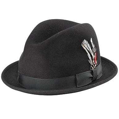 4c2f28d9136 New York Hat co. Stingy Vintage Style Fedora Hat Black at Amazon ...