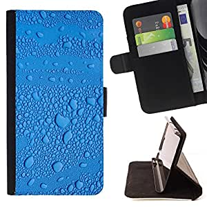 Momo Phone Case / Flip Funda de Cuero Case Cover - Gota de lluvia Gotita de agua - Samsung Galaxy J3 GSM-J300