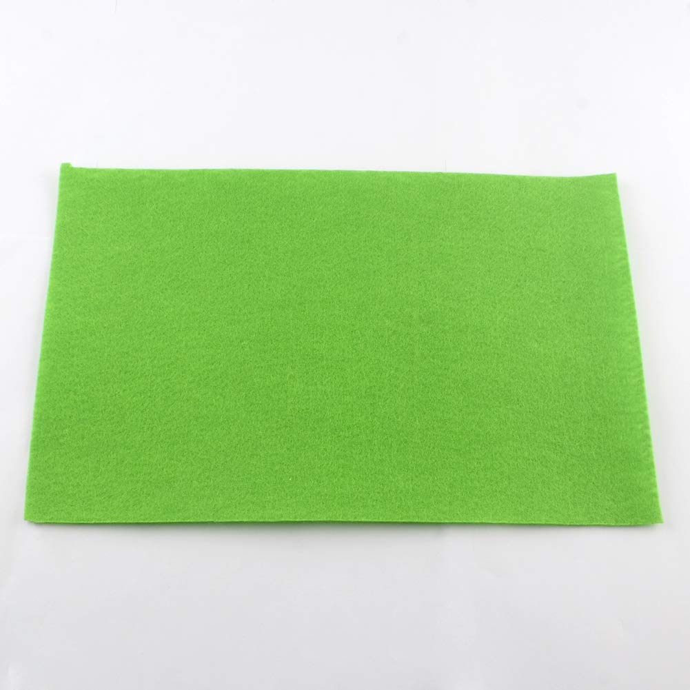 DarkGreen Felt Fabric Rectangle Sheets for Patchwork Sewing DIY Craft 2mm Thick 30cm x 20cm PH PandaHall 12 Pcs 12 x 8 inches
