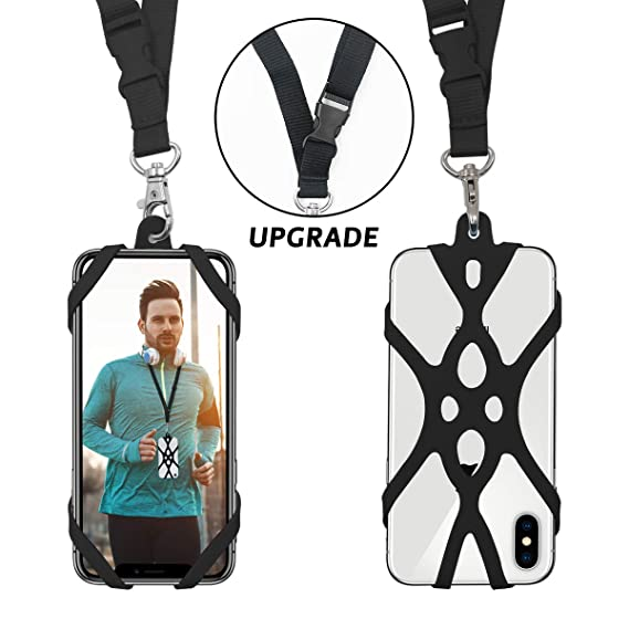 2688cd0846b7 2 in 1 Cell Phone Lanyard Rocontrip Strap Case Holder with Detachable  Neckstrap Universal for Smartphone