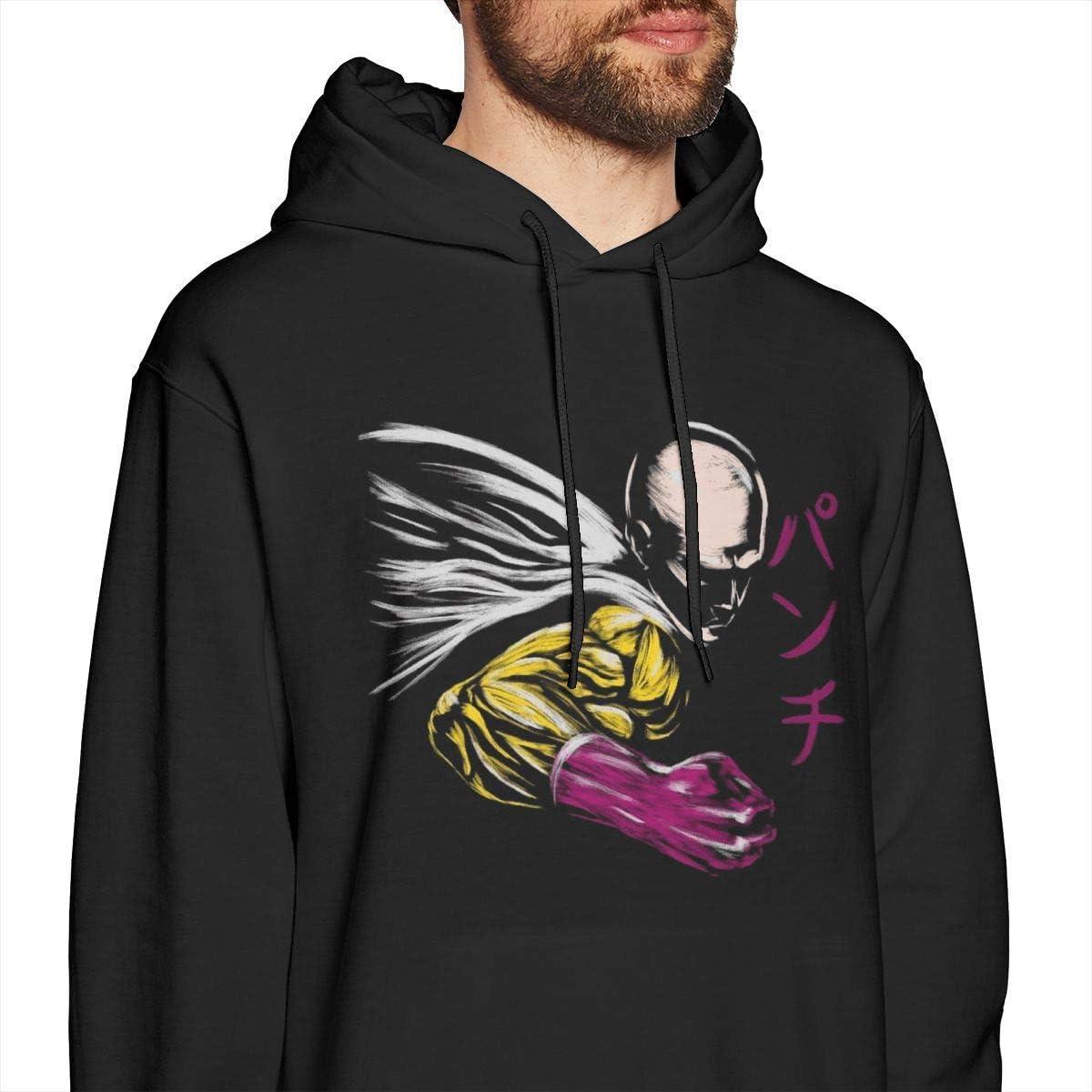 zhkx One Puch Man Saitama Silhouette Herren Pullover Hoodies Rundhals-Sweatshirt Schwarz Xxx-large|style6