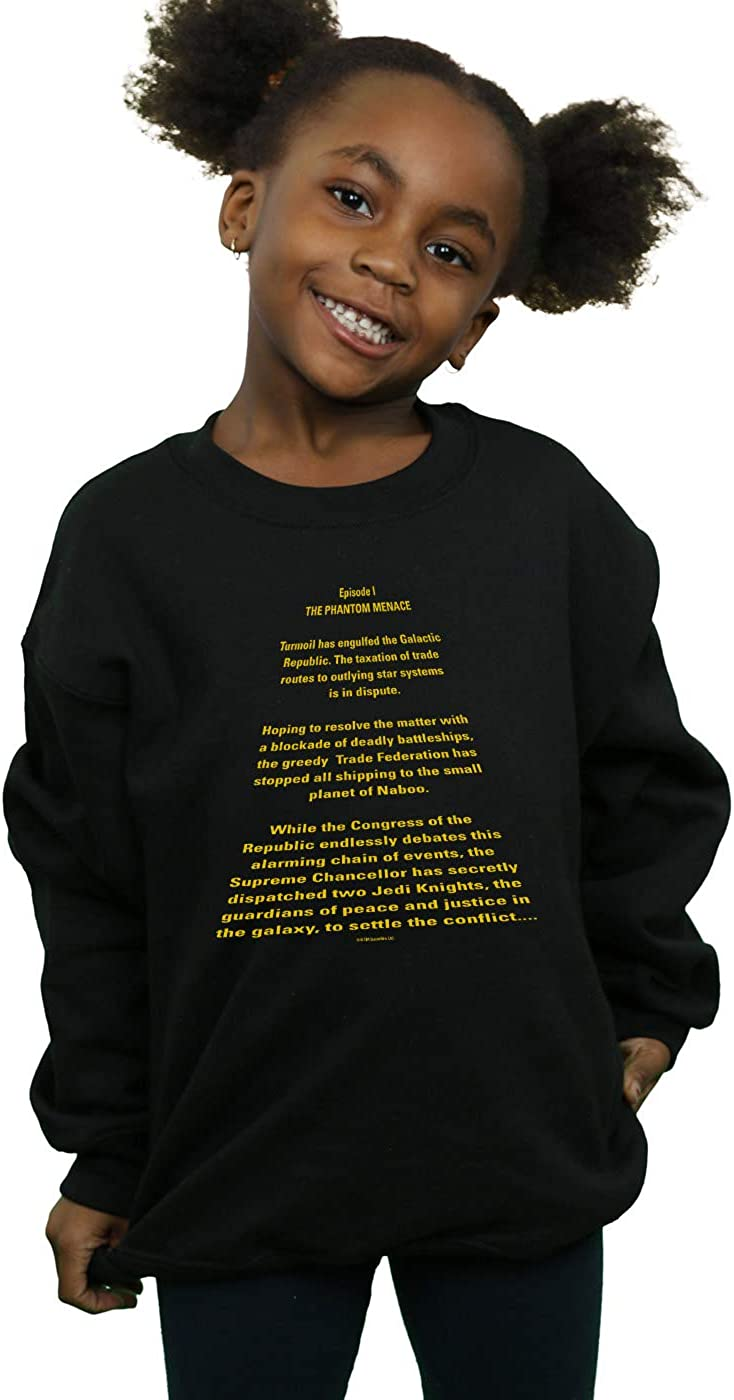 Star Wars Girls The Phantom Menace Opening Crawl Sweatshirt