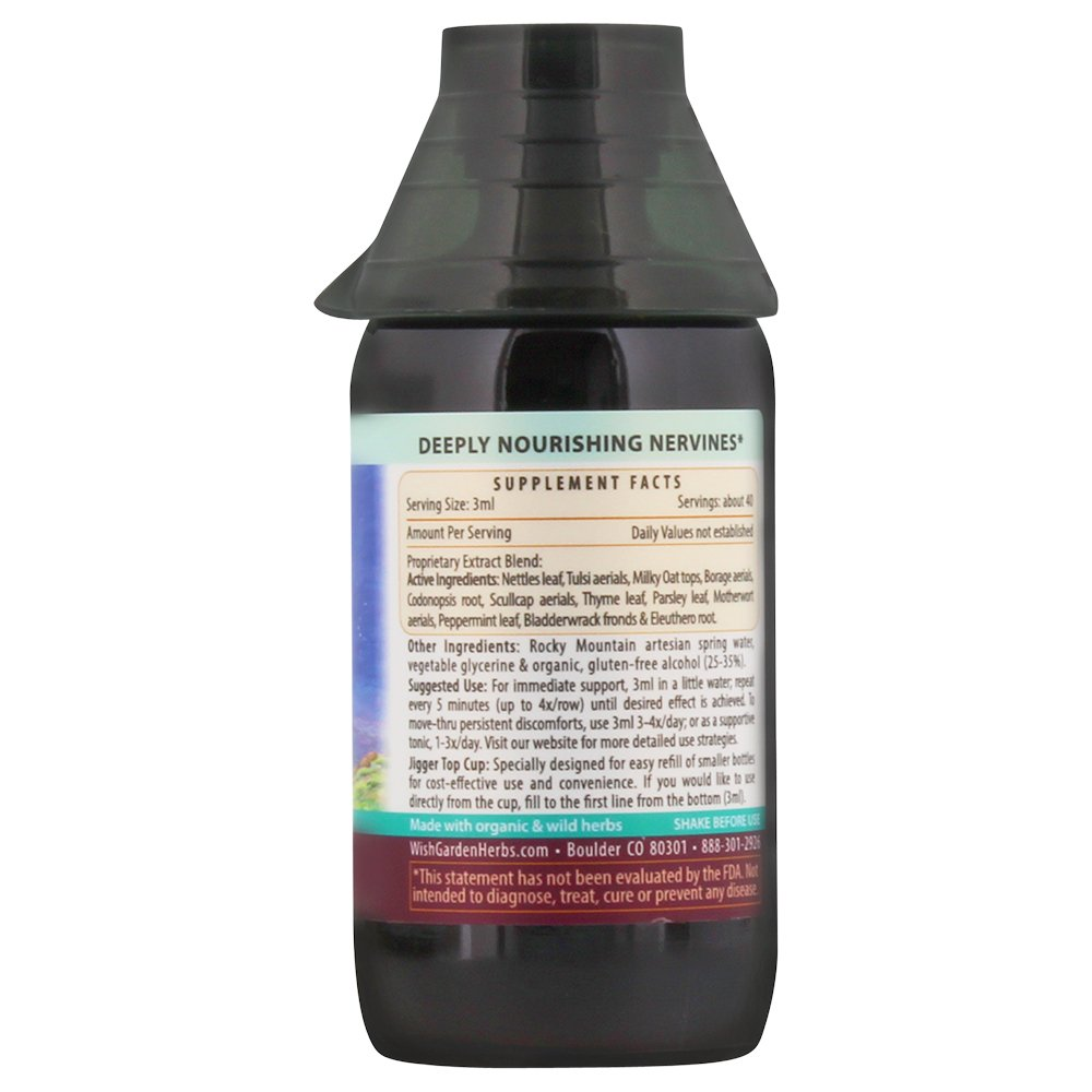 Wishgarden Herbs – Deep Stress, Organic Herbal Stress Relief, Combination of Ten Soothing Herbs Support Normalized Mood Energy 4oz