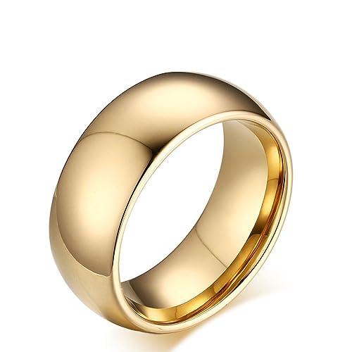 houdell carburo de tungsteno boda compromiso banda anillos para hombres mujeres, curvada, borde biselado