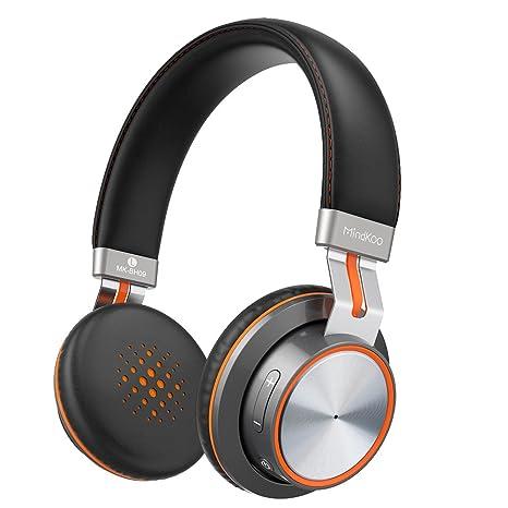Auriculares Bluetooth On-Ear Sonido Estéreo HiFi con Almohadillas Protectoras de Memoria Suave, Mic