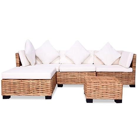 Tidyard Conjunto Muebles de Jardín de Ratán 14 Piezas Sofa ...