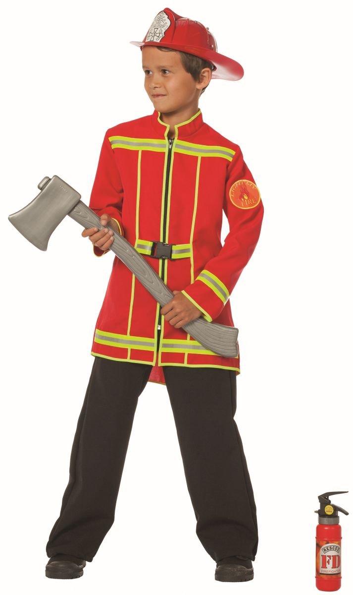 Stekarneval - Disfraz de bombero infantil, talla 13-14 años ...