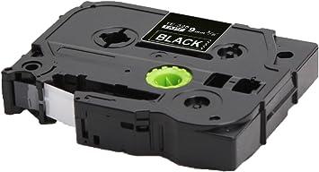 3 Schriftbänder kompatibel zu Brother P-Touch TZE-325 8m//9mm Weiß auf Schwarz