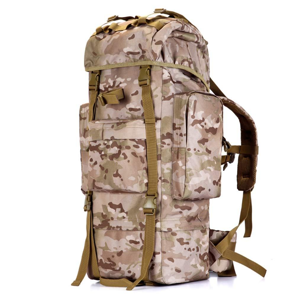 インナーフレーム屋外ハイキングバックパック、防水砂防山またはジャングルアドベンチャートラベルバックパック、迷彩のすべての種類 100L  B07NPGV86R