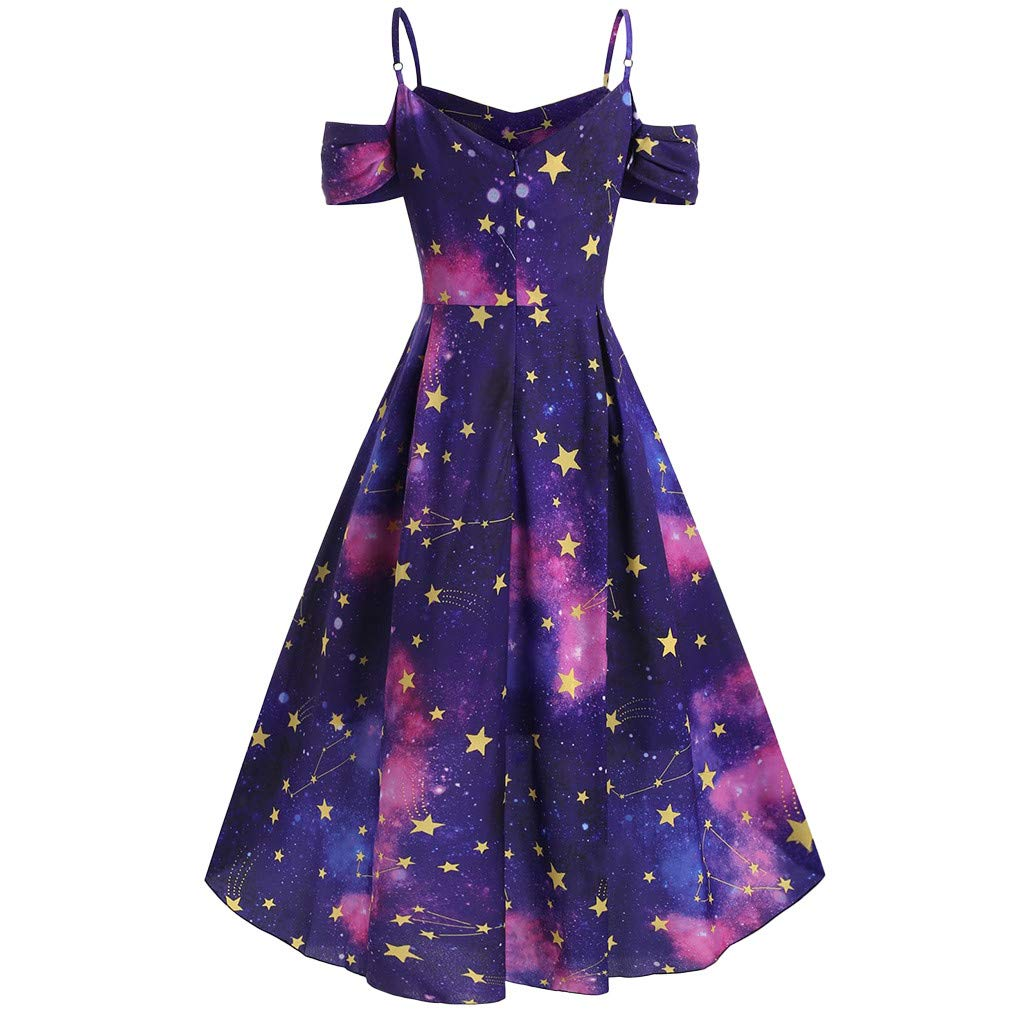 Amazon.com: Summerout Swing Dress, Plus Size Summer High Low ...