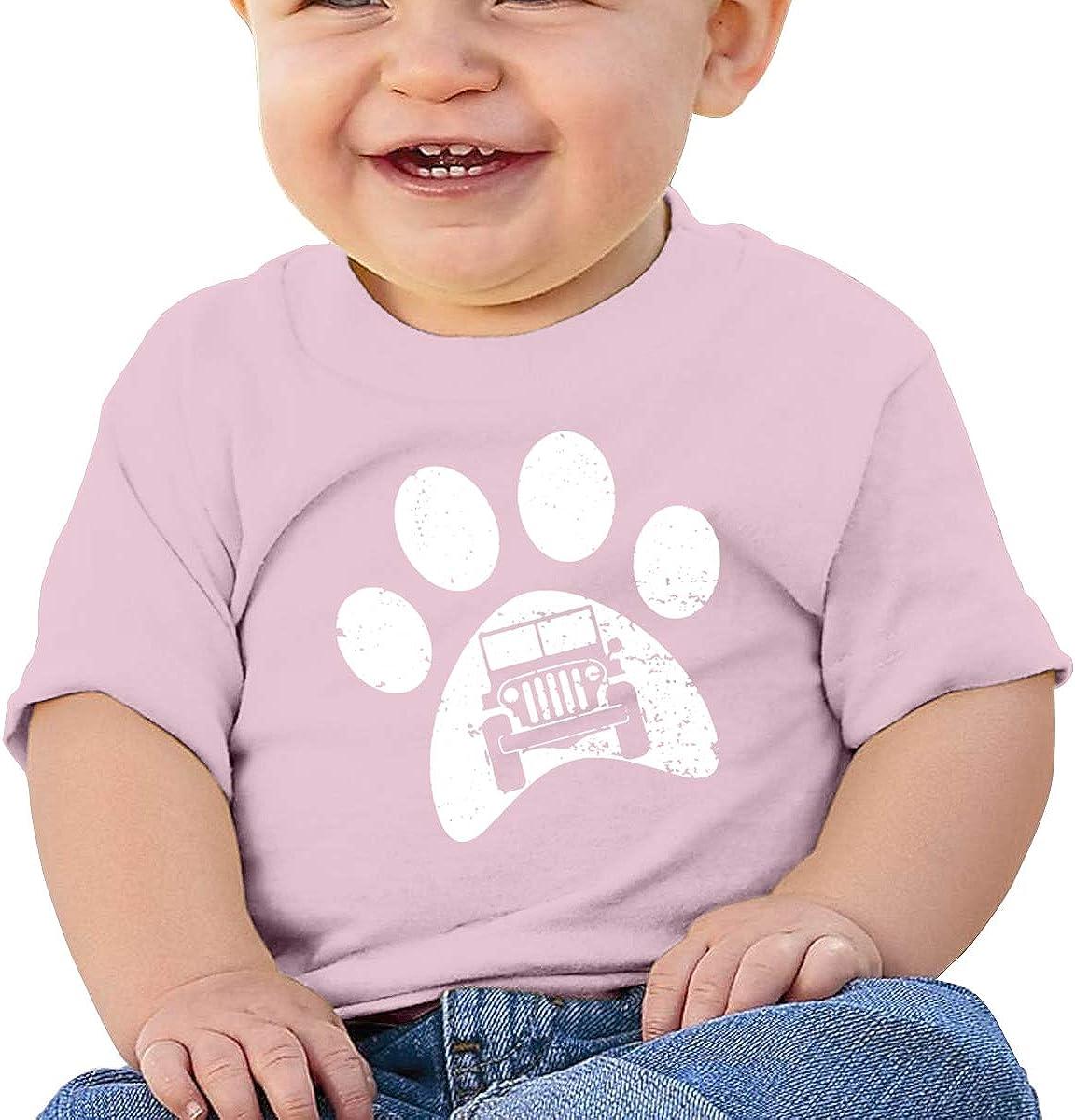 Car Dog PAW Cotton Infant Girls Top Short Sleeve
