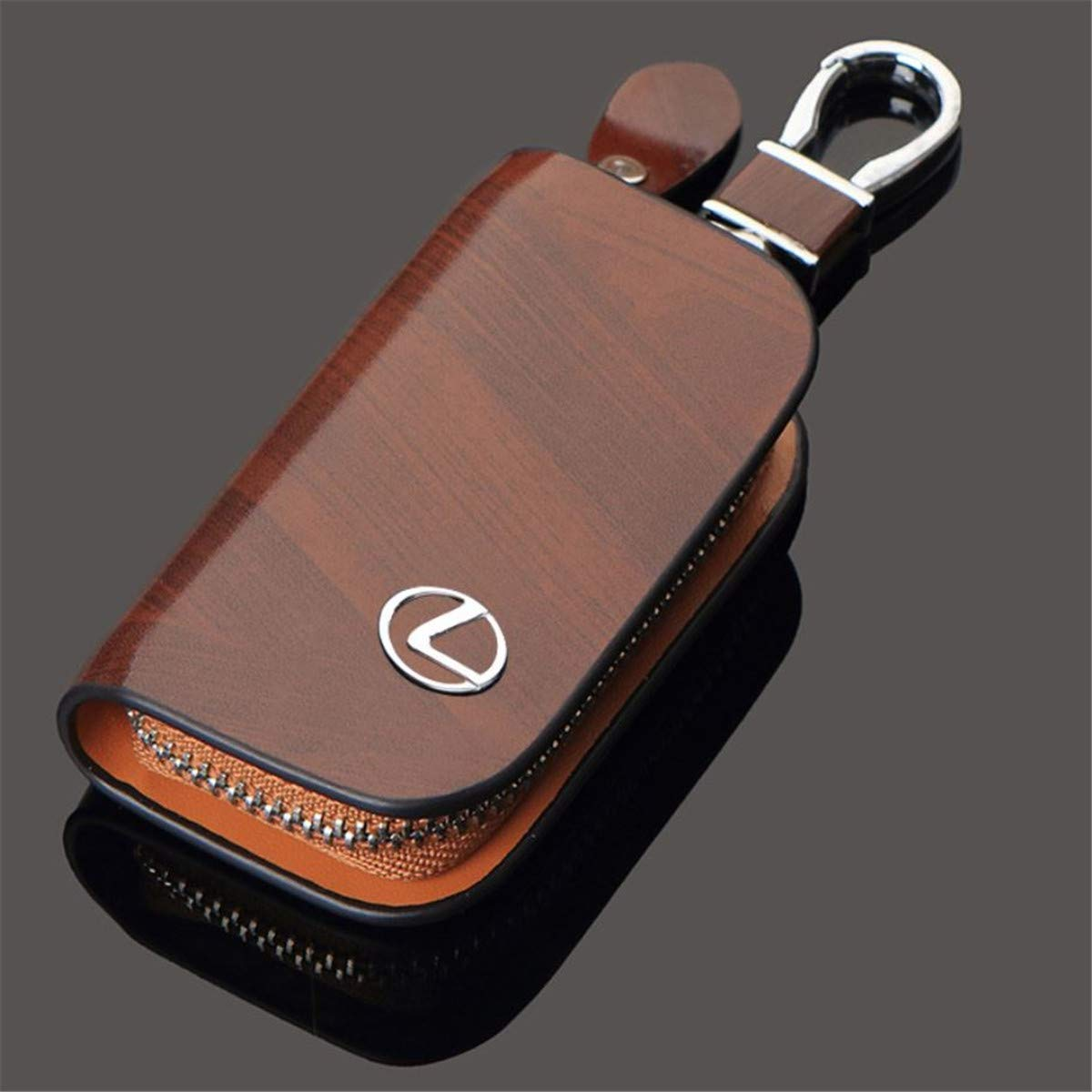 Lexus Logo Leather Key Bag,Mens Retro Cowhide Key Bag.Zinc Alloy Material.Electroplating Process high Gloss polishing.Brown Color. zinc Alloy Material Bright Color