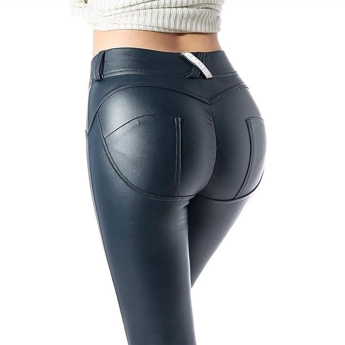 ac85125d74d66 The Hot Rock Faux Pu Leather Leggings Women Leggins High Waist Black  Leggings Push Up Jegging